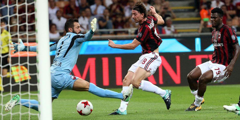 Il centrocampista del Milan Riccardo Montolivo