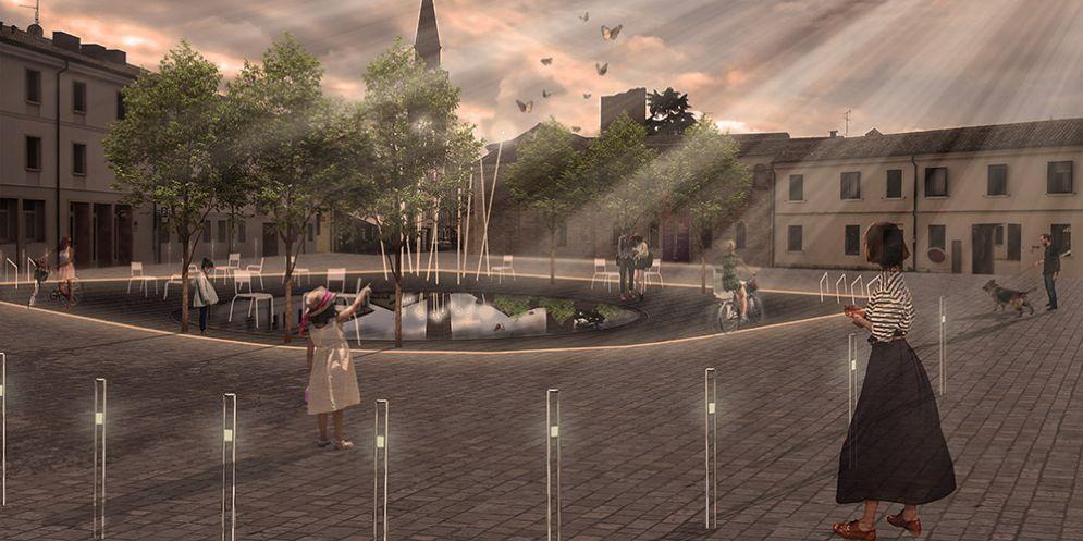 La nuova piazza della Motta a Pordenone