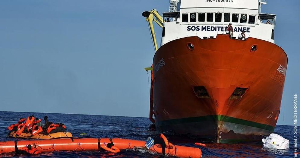 La nave Sos Mediteranee
