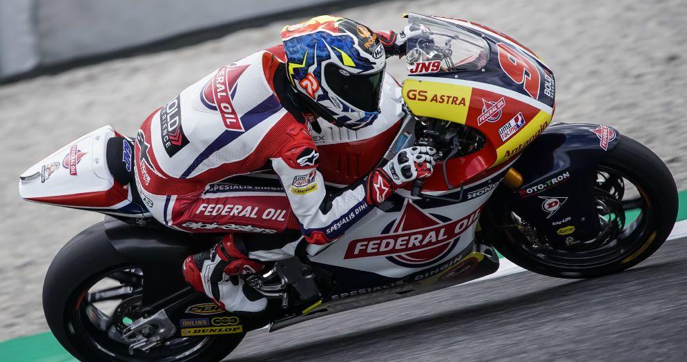 Jorge Navarro in sella alla Kalex del team Gresini Moto2
