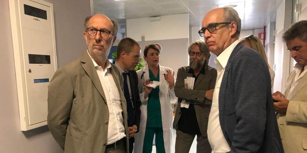 Sopralluogo effettuato dal vice presidente della Regione, Riccardo Riccardi, all'ospedale Santa Maria degli Angeli di Pordenone