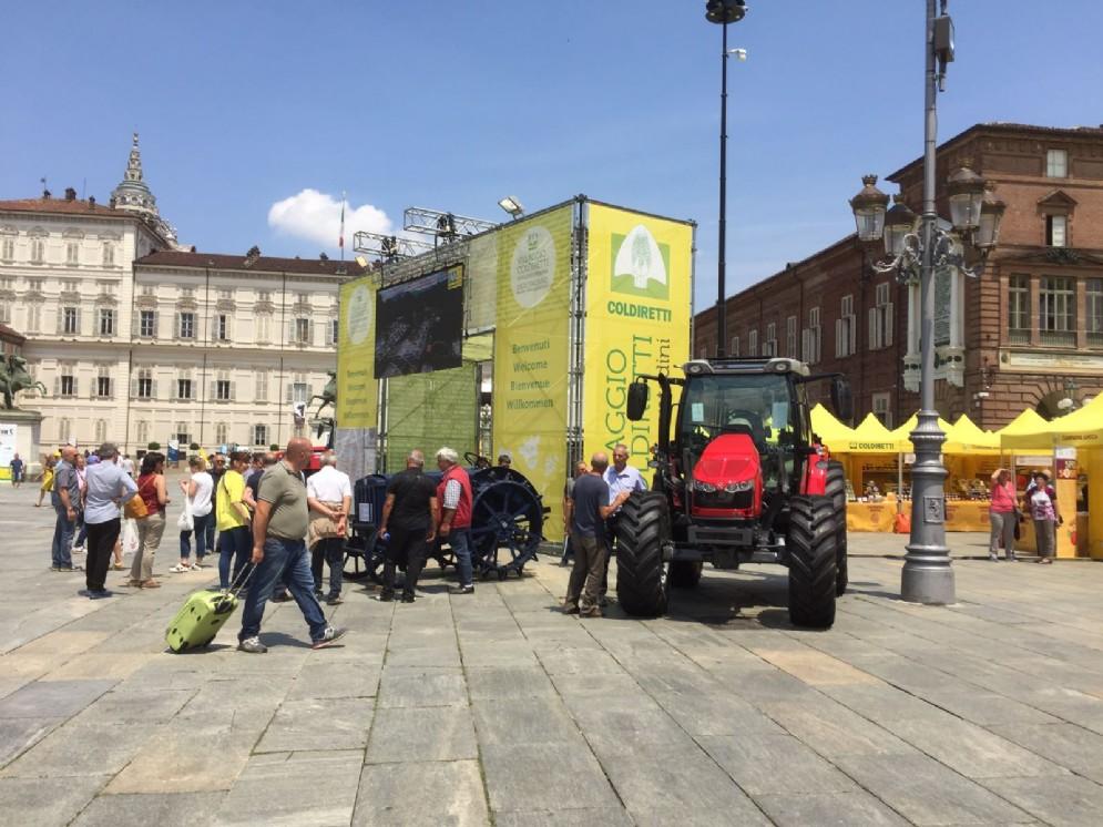 I produttori Coldiretti in piazza Castello