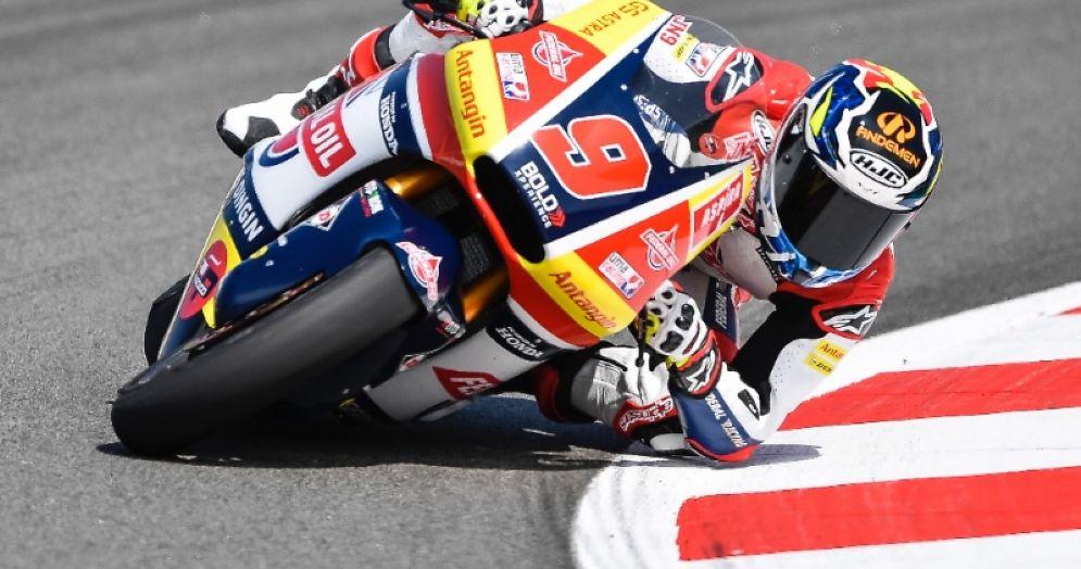 Jorge Navarro in sella alla Kalex del team Gresini Moto2 nelle qualifiche del GP di Catalogna a Barcellona