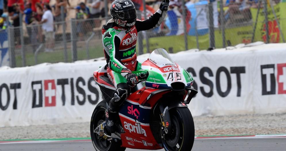 Scott Redding festeggia il piazzamento a punti nel GP di Catalogna di MotoGP a Barcellona