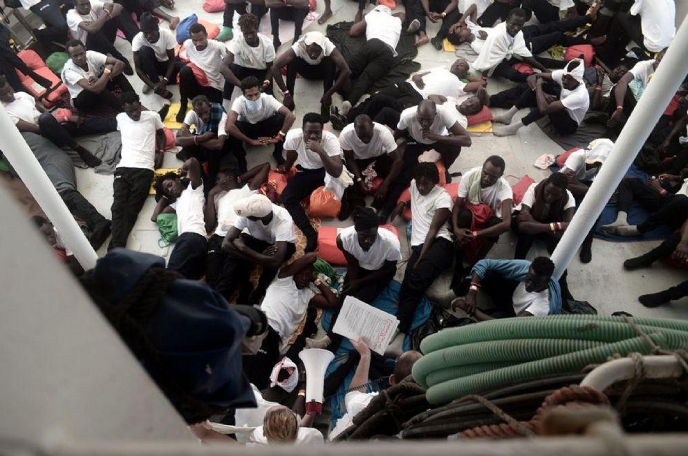 Migranti a bordo dell'Aquarius