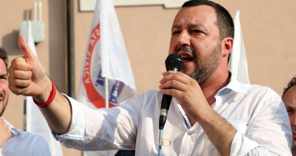 Il ministro dell'Interno Matteo Salvini a Cinisello Balsamo