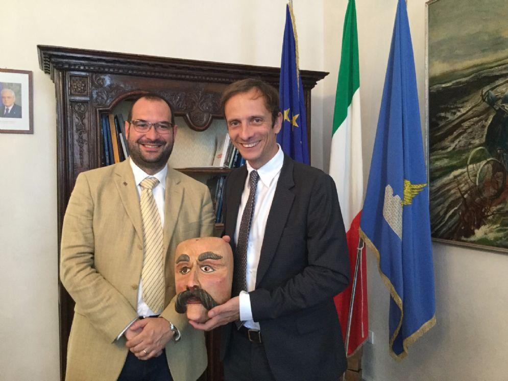 Governatore regionale Massimiliano Fedriga e sindaco Manuel Piller Hoffer