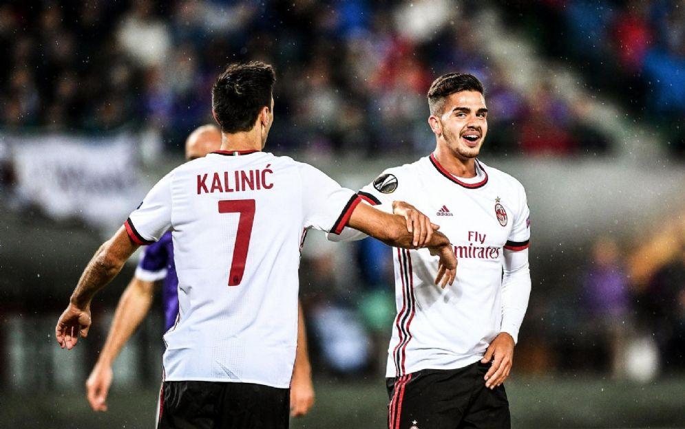 Nikola Kalinic e André Silva, entrambi attaccanti del Milan