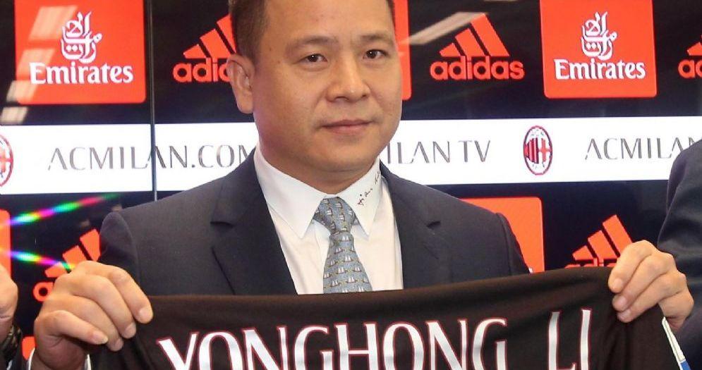 Il presidente del Milan Yonghong Li