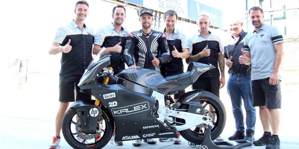 Jonas Folger con la Kalex nei test di Aragon di Moto2