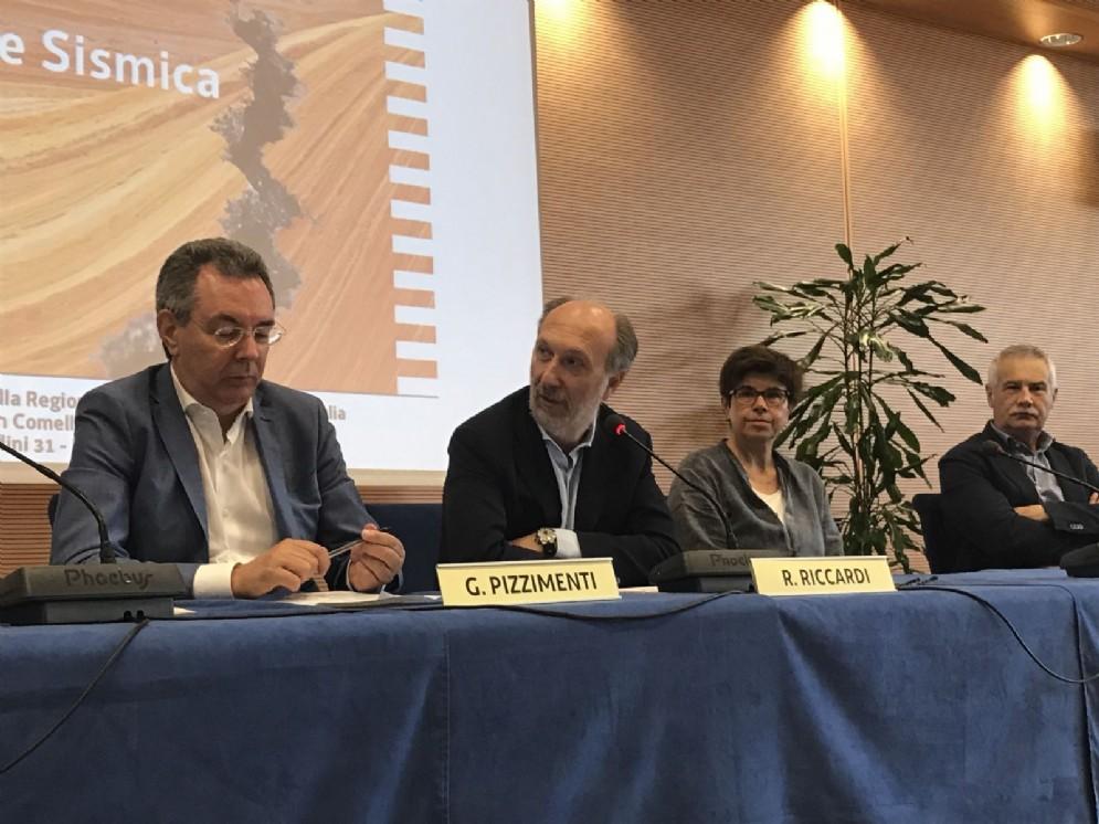 Assessore alle Infrastrutture e Territorio, Graziano Pizzimenti e vicegovernatore della Regione , Riccardo Riccardi