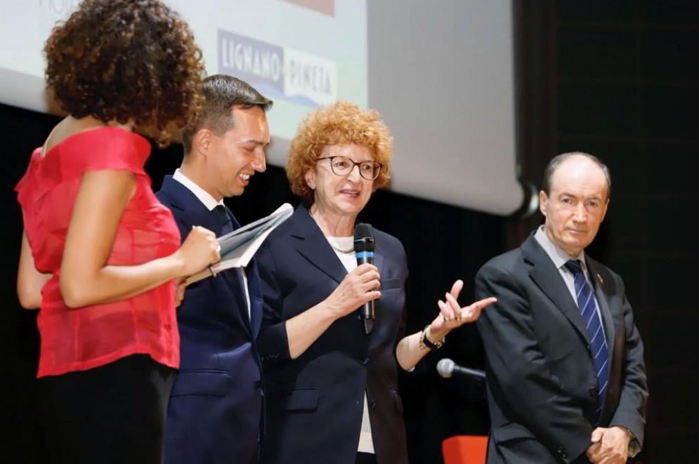 L'assessore regionale alla Cultura, Tiziana Gibelli, alla 34esima edizione del Premio Hemingway