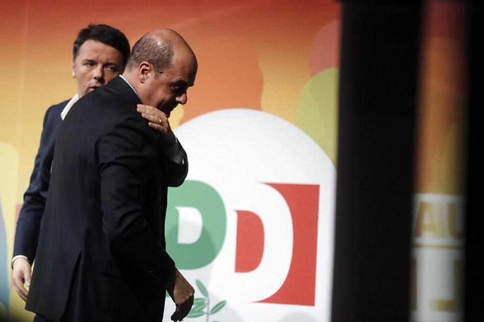 Matteo Renzi con Nicola Zingaretti