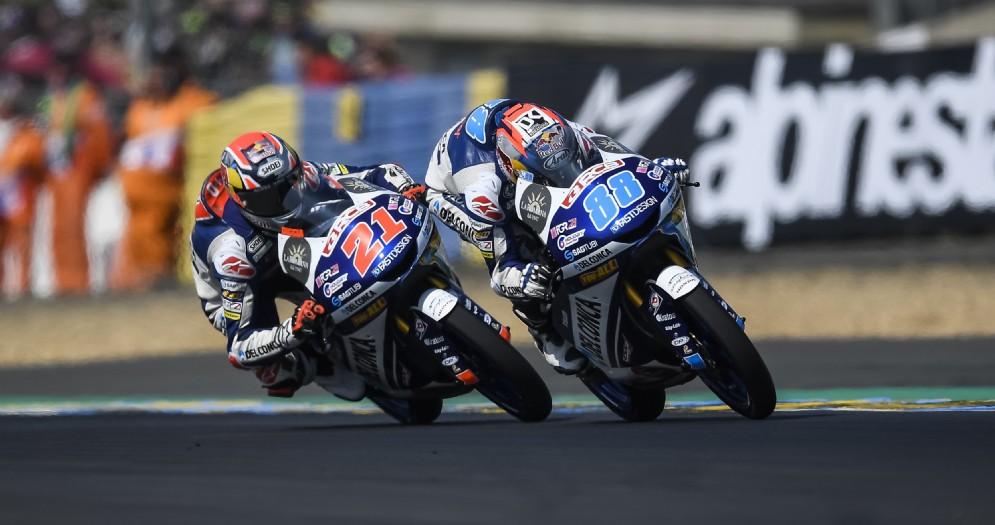Le due Honda del team Gresini Moto3 di Fabio Di Giannantonio e Jorge Martin
