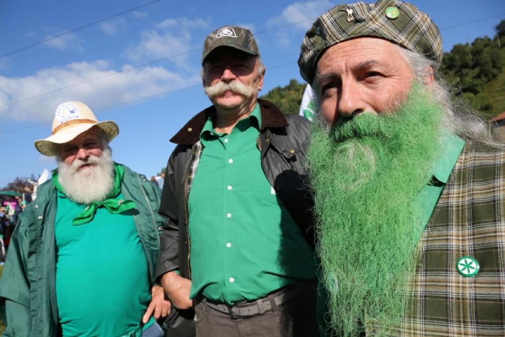 Militanti della Lega Nord durante il tradizionale raduno a Pontida