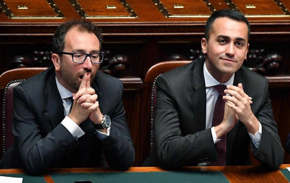 Luigi Di Maio e Alfonso Bonafede alla Camera