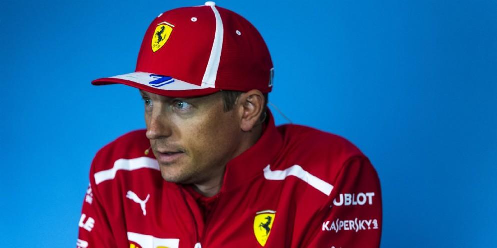 Kimi Raikkonen nella conferenza stampa alla vigilia del GP d'Austria di F1 al Red Bull Ring