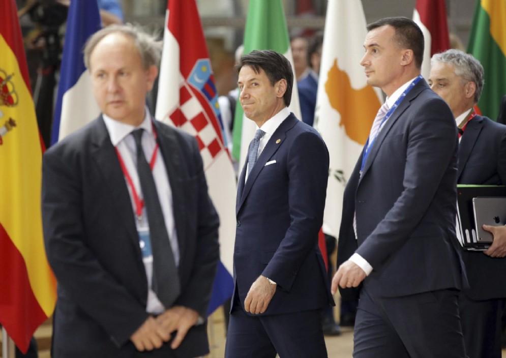 Il premier Giuseppe Conte al vertice Ue di Bruxelles