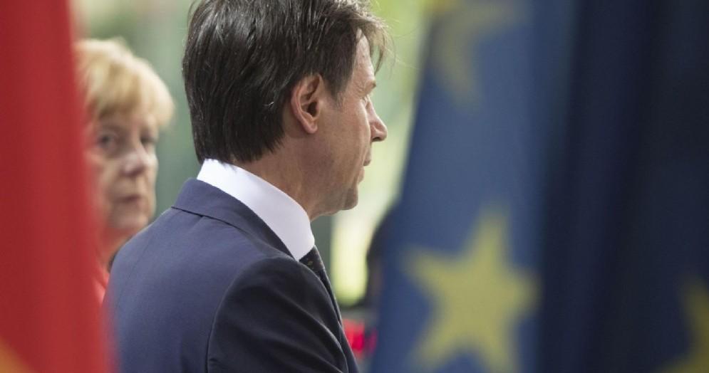 Il premier Giuseppe Conte con la cancelliera Angela Merkel