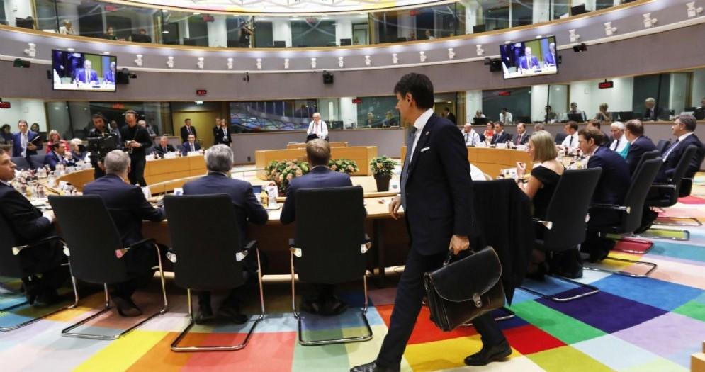 Il premier Giuseppe Conte al Consiglio Ue di Bruxelles