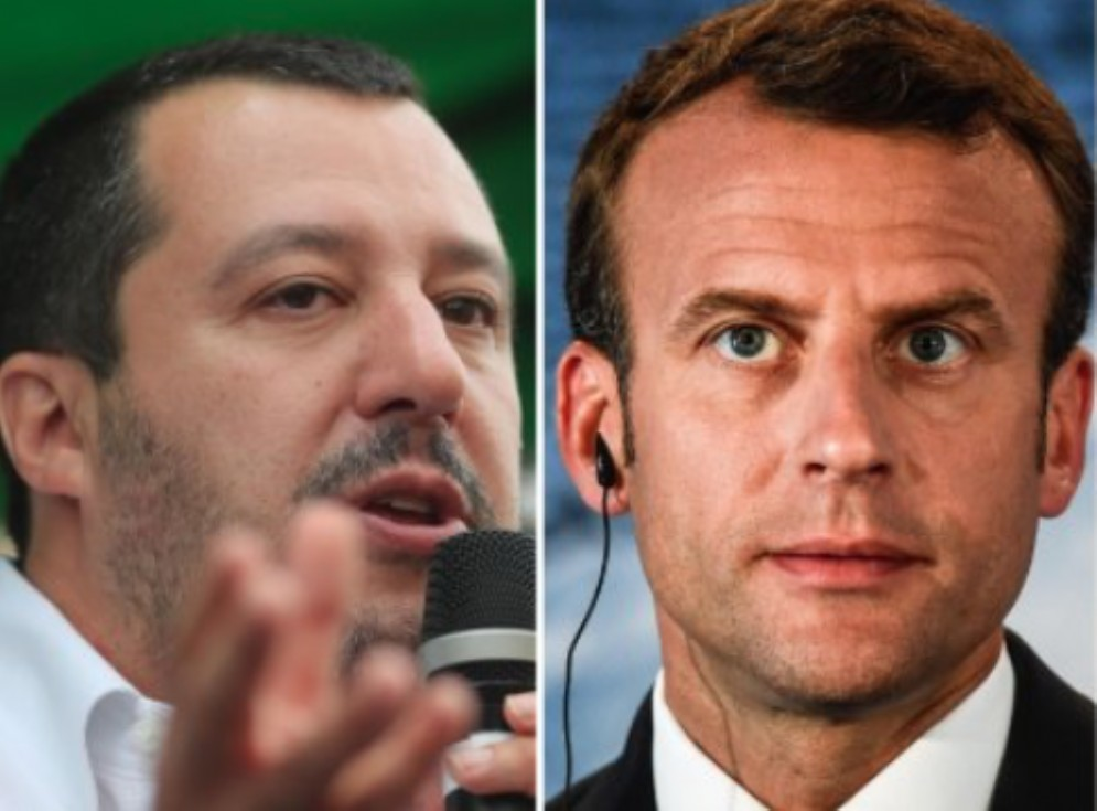 Matteo Salvini ed Emmanuel Macron