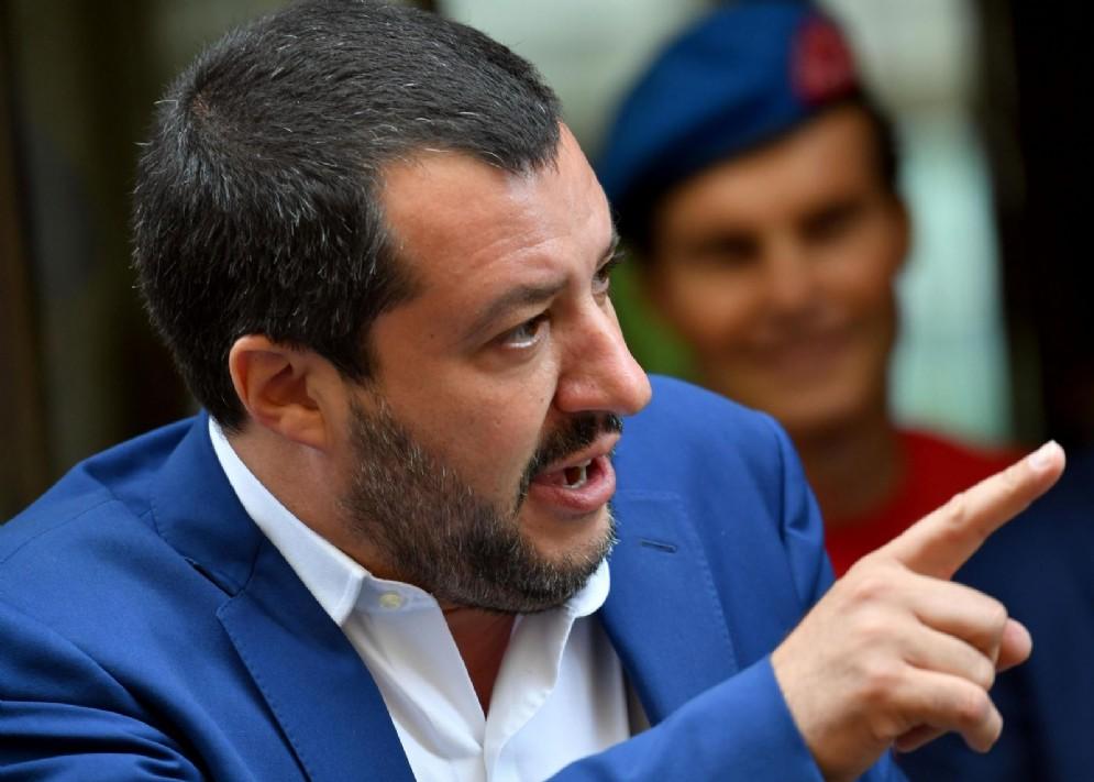 Il vicepremier e ministro dell'Interno, Matteo Salvini, all'arrivo a un evento a Milano