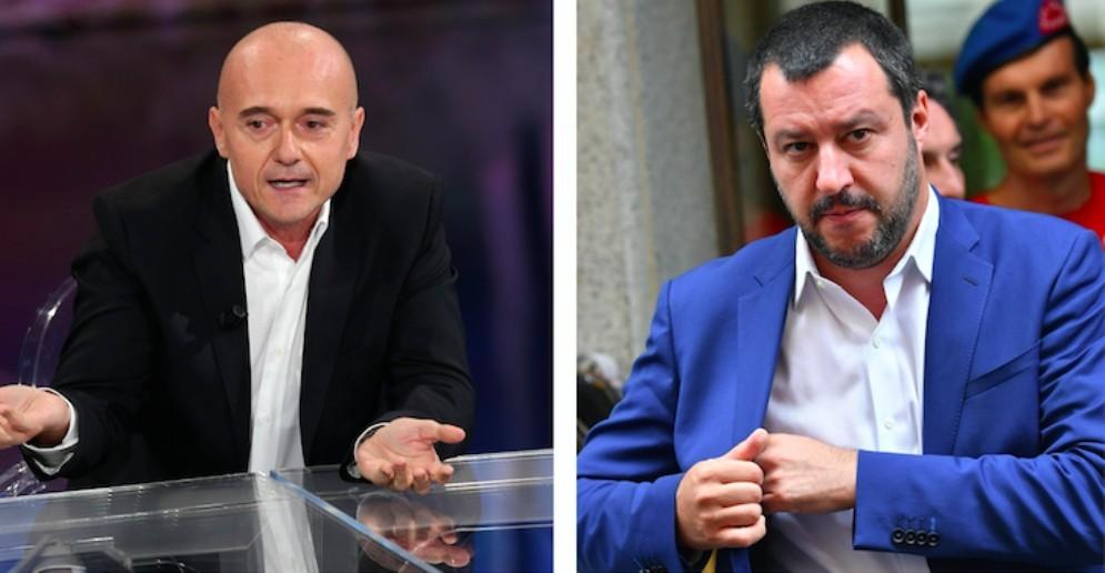 """Il direttore di """"Chi"""" Alfonso Signorini e il ministro dell'Interno Matteo Salvini"""
