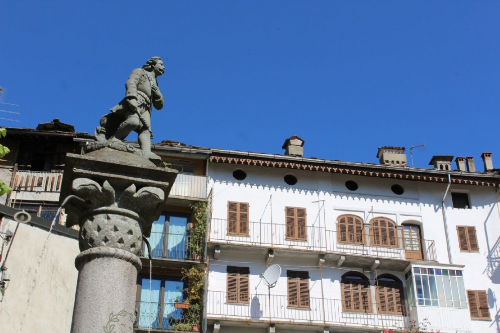 Particolare del monumento a Pietro Micca
