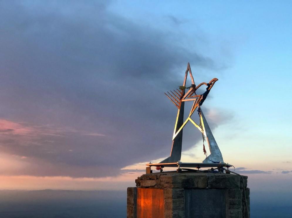 Il monumento sulla cima del Mucrone