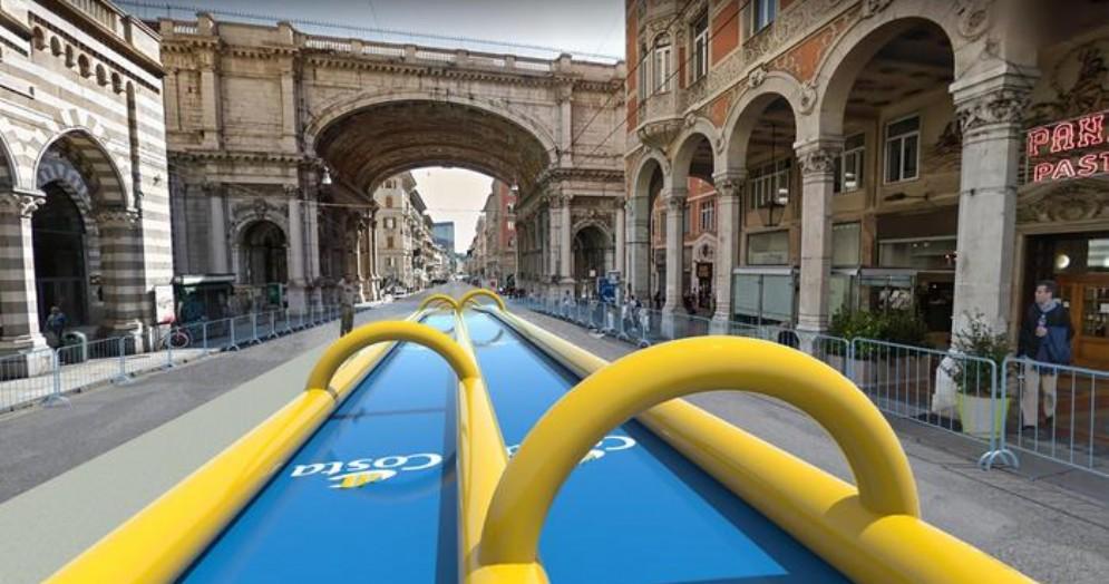 Lo scivolo tra Piazza De Ferrari e via XX Settembre