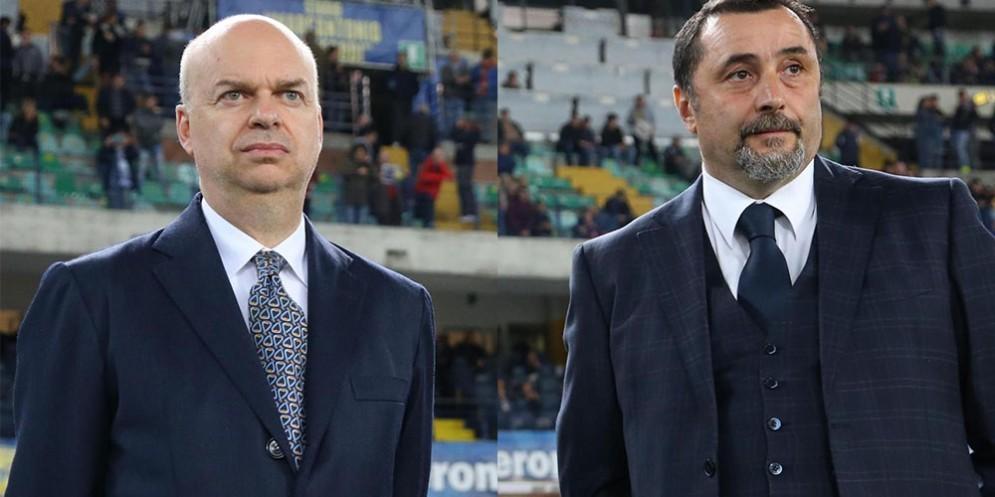 Marco Fassone e Massimiliano Mirabelli, ad e ds del Milan