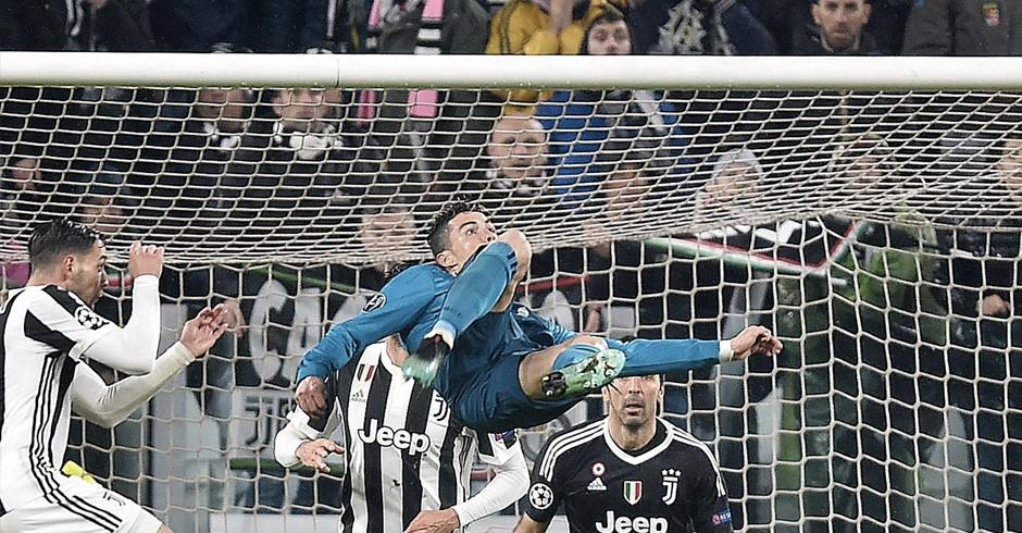 La rovesciata di Ronaldo allo Juventus Stadium