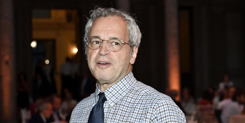 Enrico Mentana alla cerimonia dei vincitori della 58ma edizione del Premiolino. Milano, 20 Giugno 2018