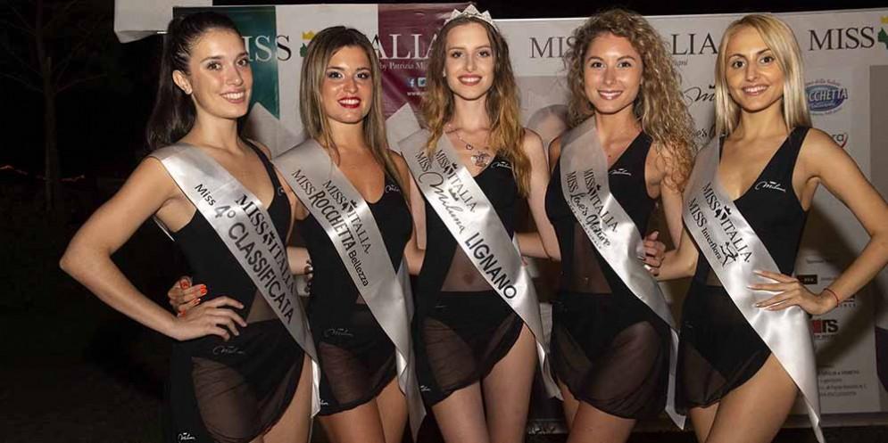 Miss Italia: le vincitrici alle selezioni Miluna di Lignano