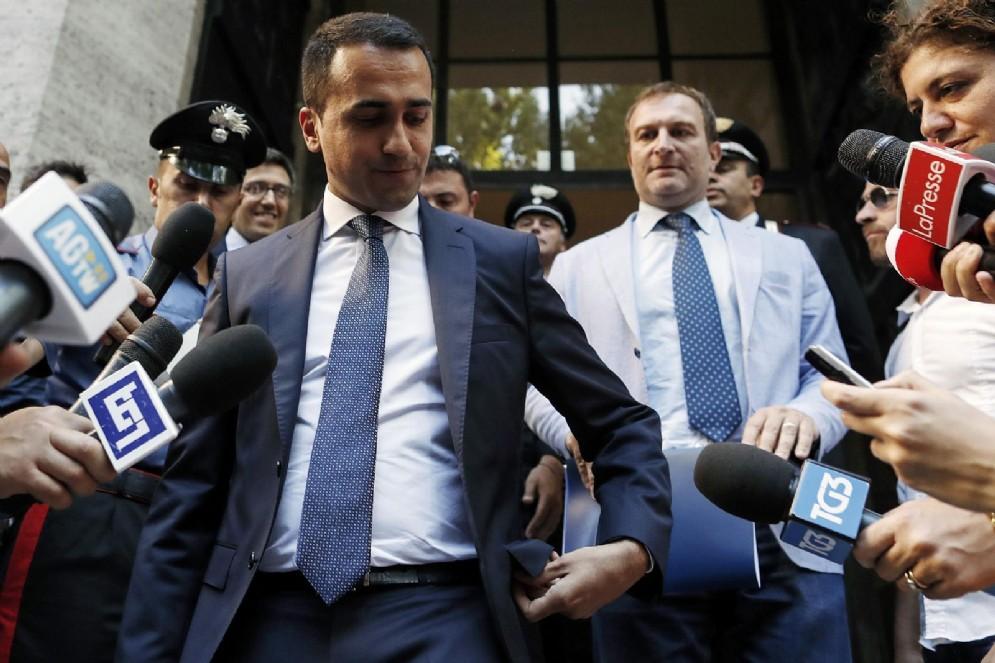 Luigi Di Maio, ministro dello Sviluppo Economico e delle Politiche Sociali, dopo l'incontro al MISE sull'ILVA, Roma