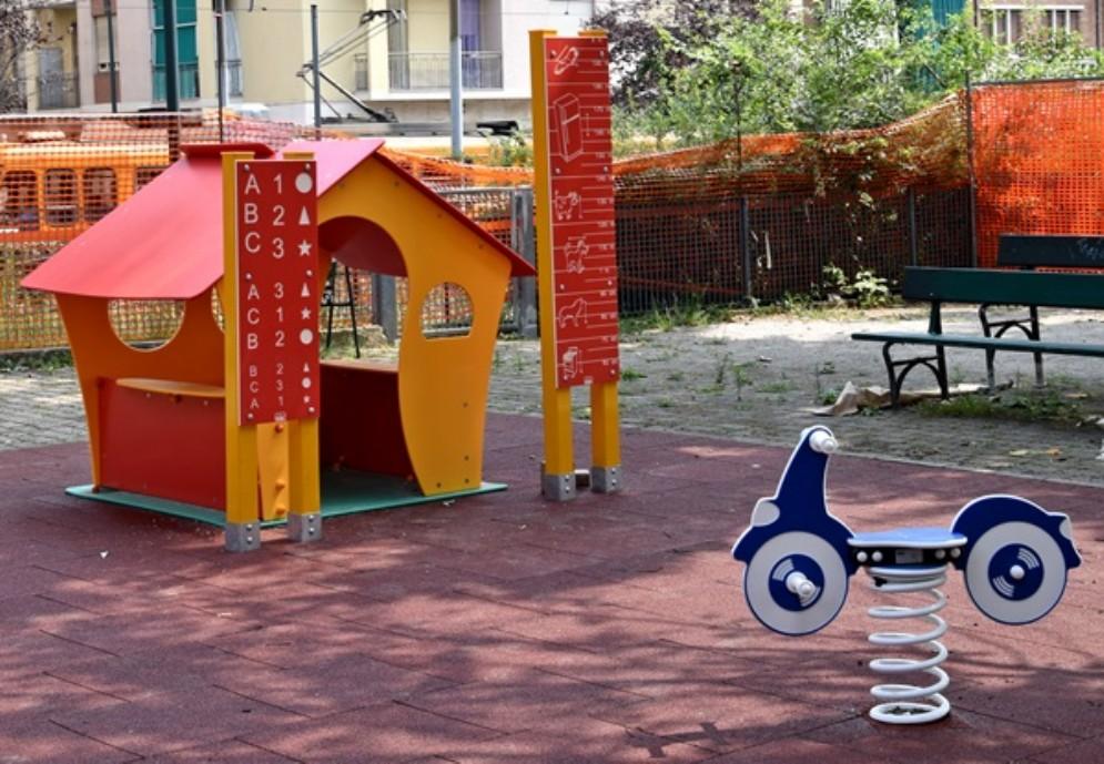 Dopo i lavori riapre il parco giochi di via Verolengo: buone notizie per i bimbi