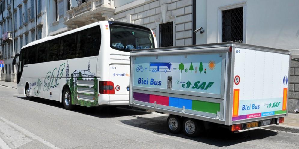 Fvg, al via tre servizi sperimentali bici più autobus
