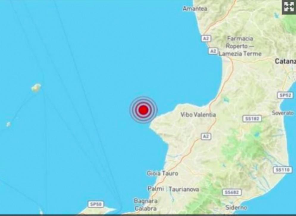 Scossa di terremoto al largo di Tropea