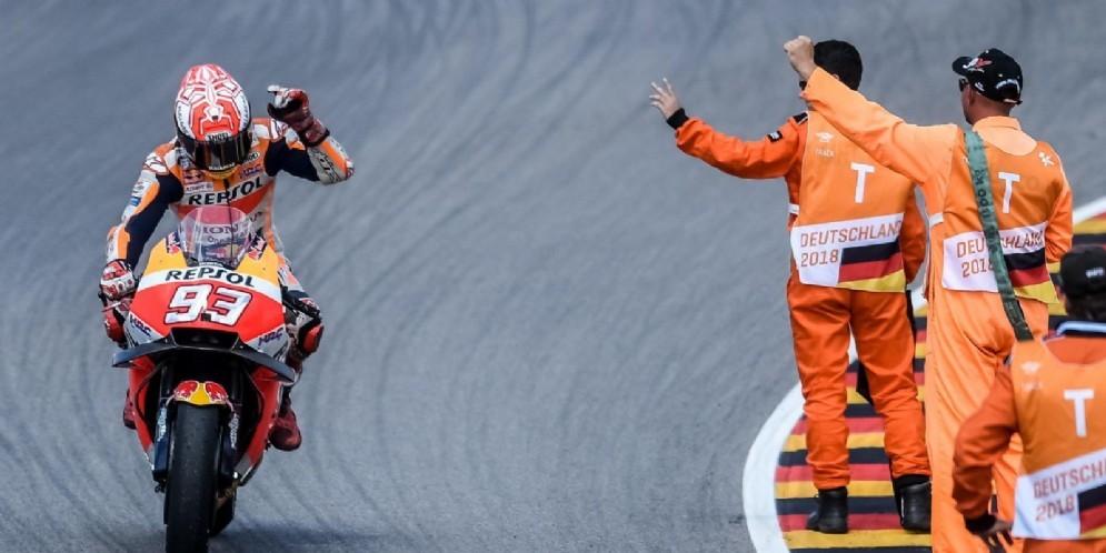 Marc Marquez trionfa per la nona volta nel GP di Germania