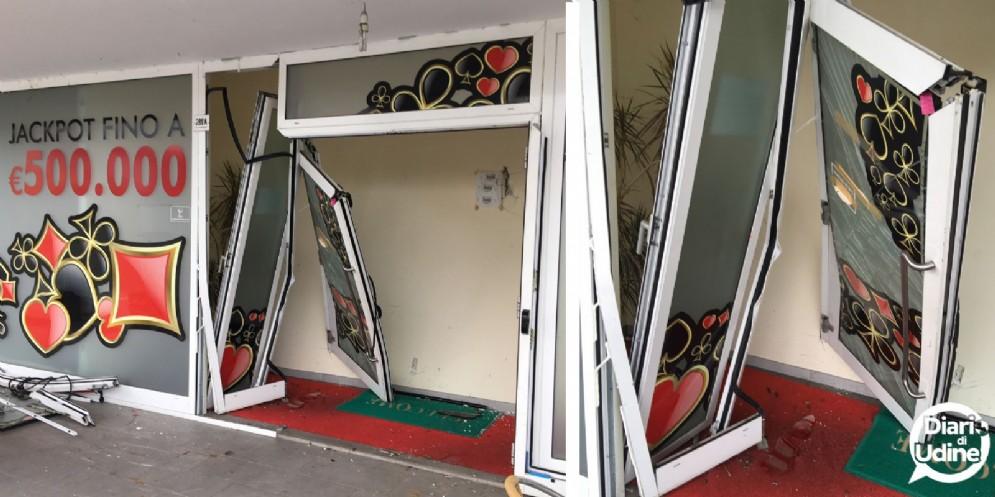 Spaccata a Martignacco: presa di mira una sala slot