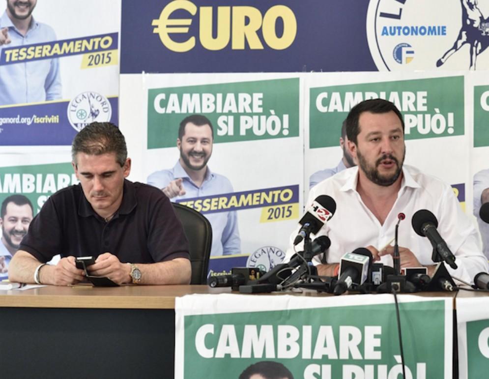 Paolo Grimoldi e Matteo Salvini