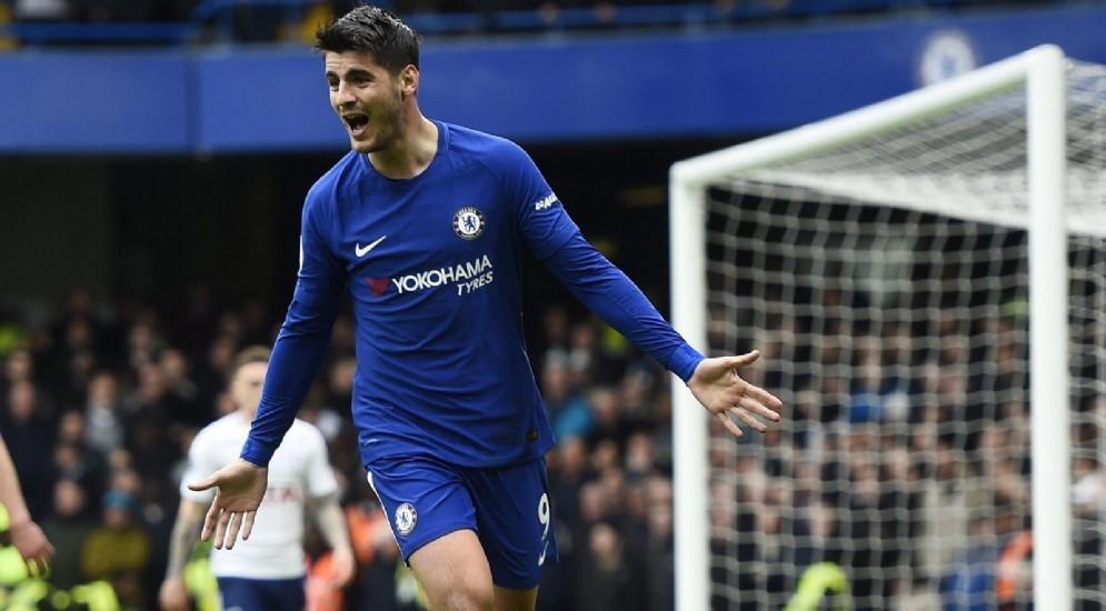 Il centravanti spagnolo del Chelsea Alvaro Morata