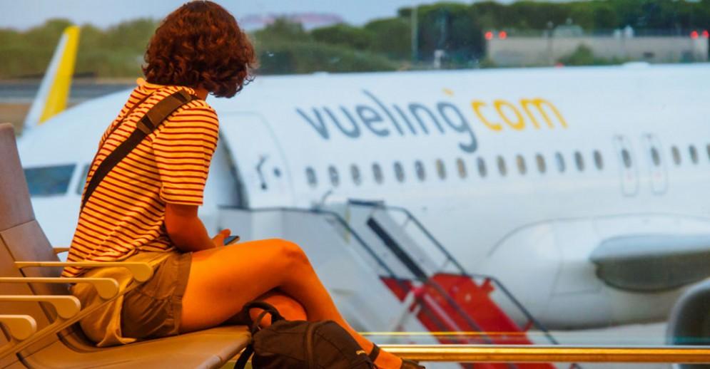 In attesa del volo Vueling