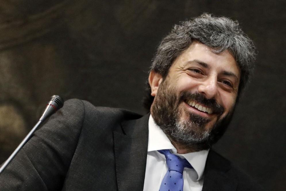 Roberto Fico, presidente della Camera dei Deputati, durante la cerimonia del Ventaglio