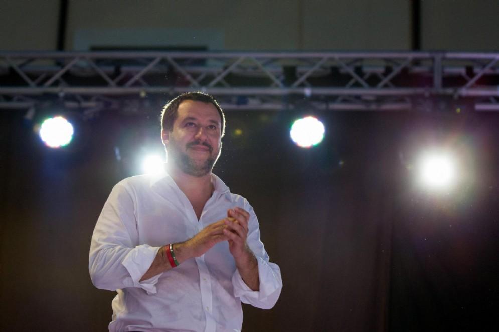 Il segretario della Lega e ministro dell'Interno, Matteo Salvini