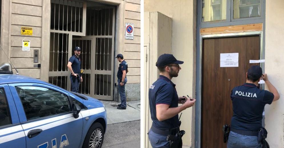 L'appartamento sequestrato in via Ormea