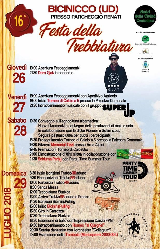 A Bicinicco torna puntuale la 'Festa Della Trebbiatura': apre Doro Gjat