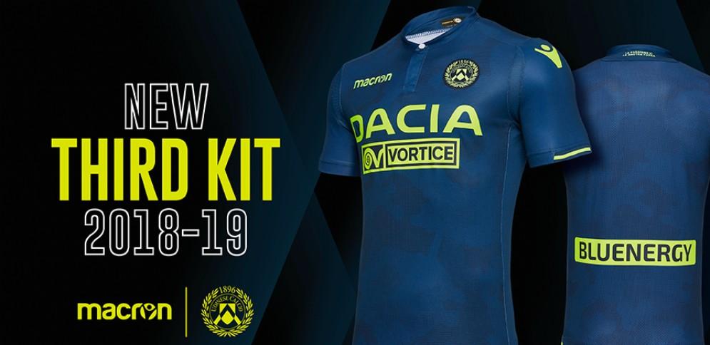 Ecco la 'Third',la prima maglia della nuova stagione dell'Udinese