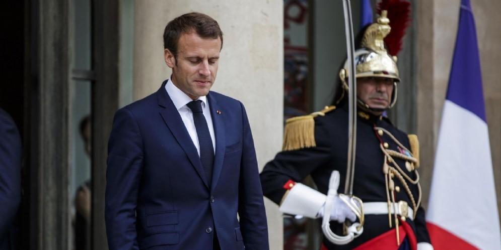 Il presidente della Repubblica francese Emmanuel Macron