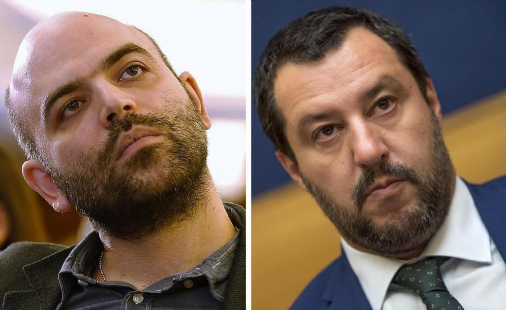 Roberto Saviano e Matteo Salvini